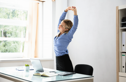 Stay Active and Exercise at Work- It's Important Picture