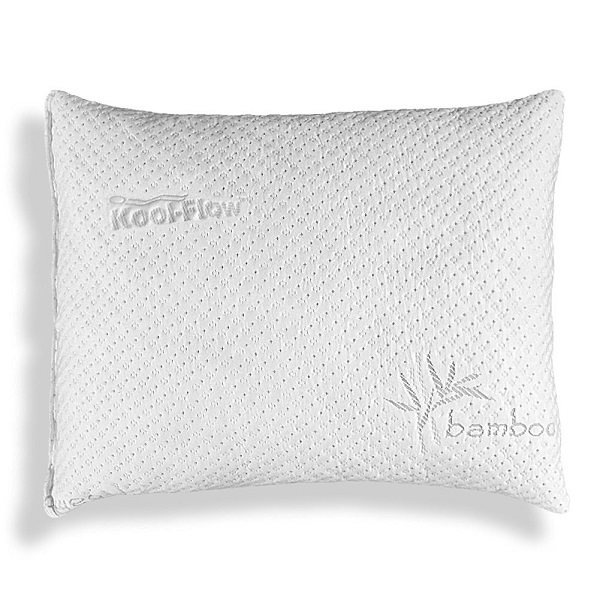 the best rated shredded memory foam pillow with bamboo cover picture