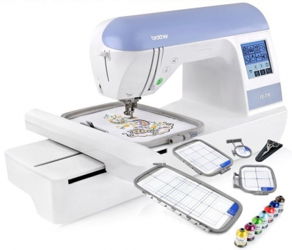 Top embroidery and quilting sewing machines