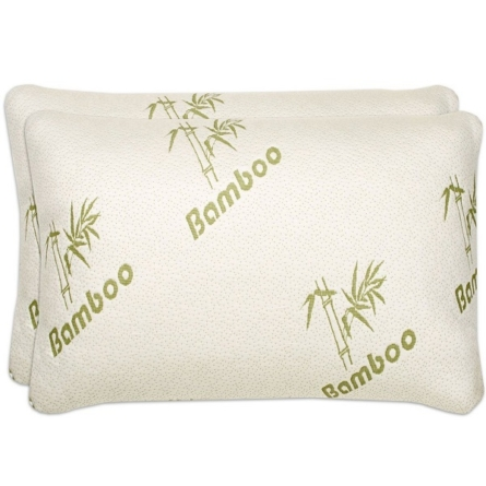 The Best Rated Shredded Memory Foam Pillow with Bamboo Cover